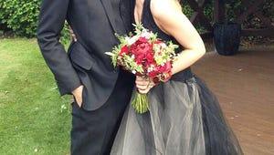 90210's Shenae Grimes Weds ... in a Black Wedding Dress!