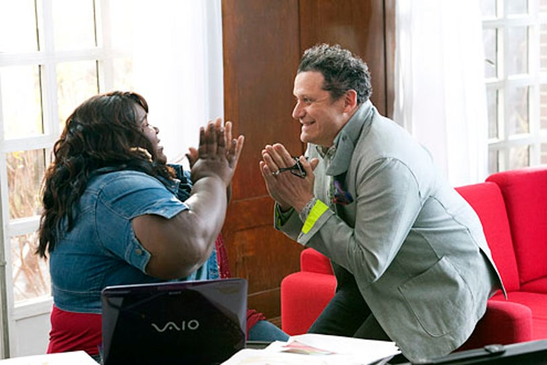 "The Big C: Hereafter - ""The Finale"" - Gabourey Sidibe and Isaac Mizrahi"