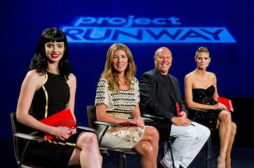 "Project Runway - Season 10 - ""Welcome Back to the Runway"" - Krysten Ritter, Nina Garcia, Michael Kors and Heidi Klum"