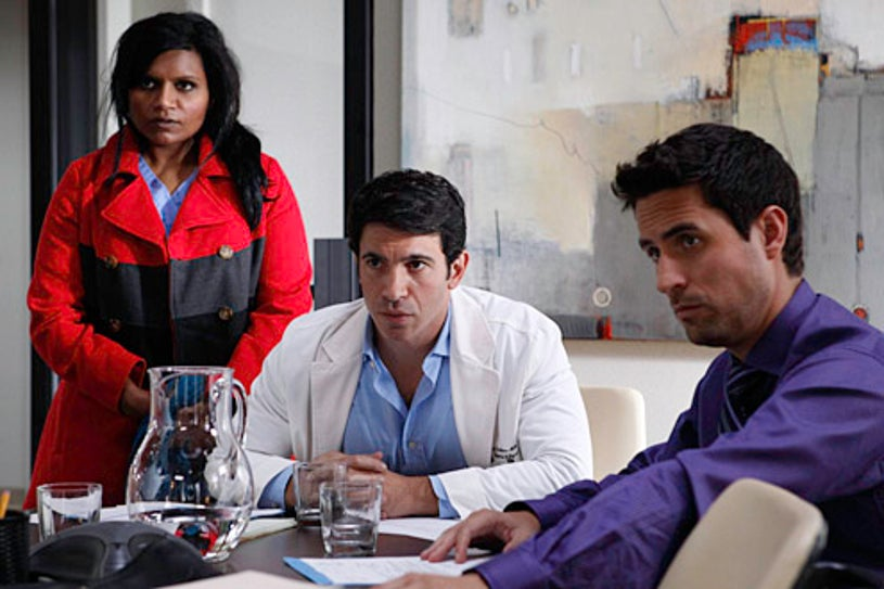 """The Mindy Project - Season 1 - """"Two to One"""" - Mindy Kaling, Chris Messina, Ed Weeks"""