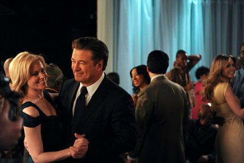 "30 Rock - Season 4 - ""I Do Do"" - Elizabeth Banks as Avery Jessup, and Alec Baldwin as Jack Donaghy"