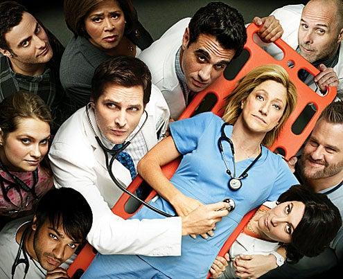 Nurse Jackie - Season 4 - Dominic Fumusa, Merritt Weaver, Arjun Gupta, Anna Deavere Smith, Peter Facinelli, Bobby Cannavale, Edie Falco, Eve Best, Stephen Wallem and Paul Schulze