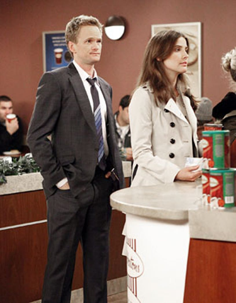 """How I Met Your Mother - Season 5 - """"Duel Citizenship"""" - Neil Patrick Harris as Barney and Cobie Smulders as Robin"""