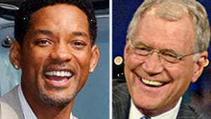 Will Smith and Letterman Steal a Smooch