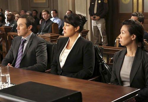 "Grey's Anatomy - Season 10 - ""Sorry Seems to Be the Hardest Word"" - Currie Graham, Sara Ramirez"