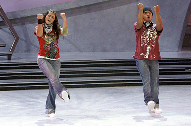 So You Think You Can Dance - Season 3 -  Sara Von Gillern (L) and Jesus Solorio (R) perform a Krump routine choreographed by Lil' C.