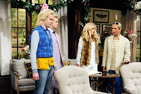 "Saturday Night Live - Season 38 - ""Christina Applegate"" - Bill Hader, Taran Killiam, Christina Applegate and Fred Armisen"