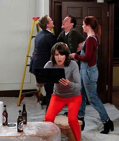 "How I Met Your Mother - Season 7 - ""Mystery Vs. History"" - Cobie Smulders, Neil Patrick Harris, Jason Segel, Alyson Hannigan"
