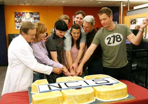 NCIS cast - NCIS 100th Episode celebration at the Valencia Studios on September 4, 2007