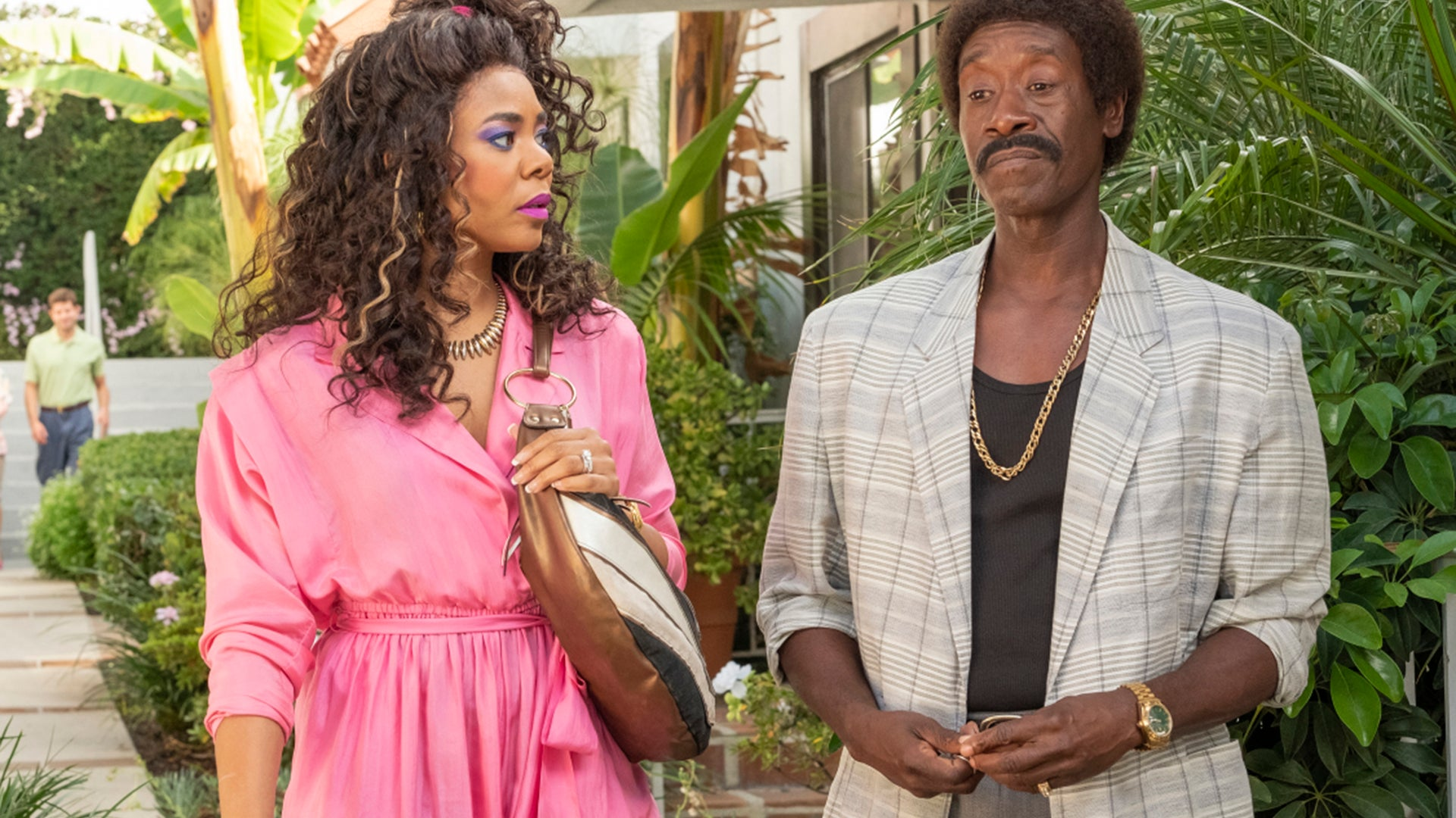 Regina Hall as Dawn and Don Cheadle as Mo in Black Monday
