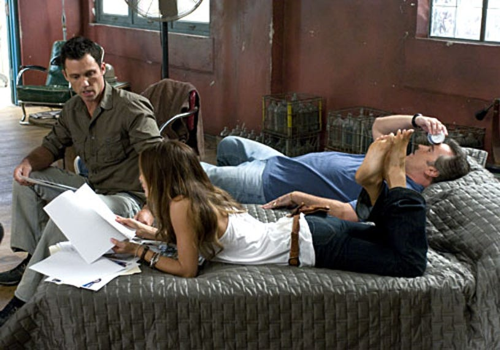 "Burn Notice - Season 2, ""Comrades"" - Jeffrey Donovan as Michael, Gabrielle Anwar as Fiona, Bruce Campbell as Sam"