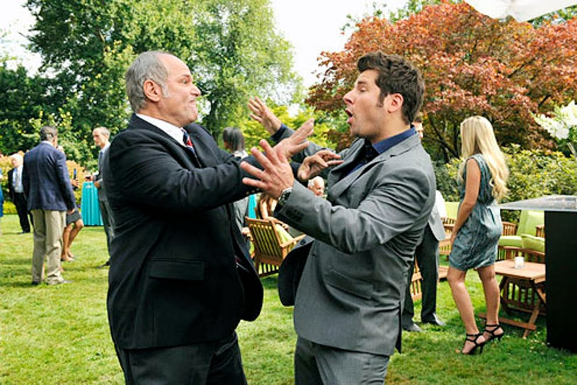 "Psych - Season 7 - ""The Santabarbarian Candidate"" - John Kapelos and James Roday"