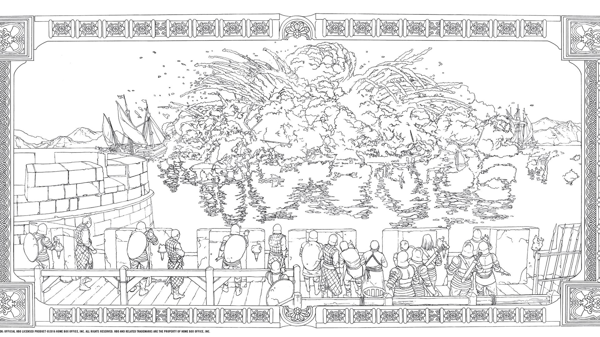 HBO's Game of Thrones Coloring Book: The Battle of the Blackwater  