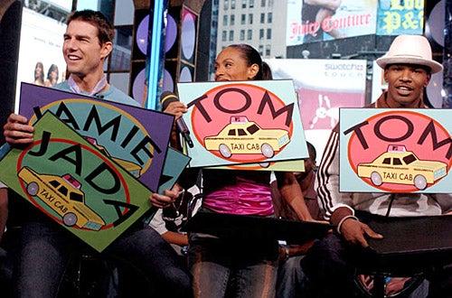 "Tom Cruise, Jamie Foxx and Jada Pinkett Smith - MTV's ""TRL"" in New York City, August 5, 2004"