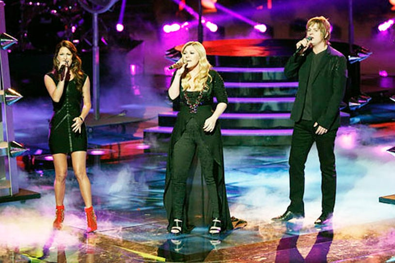"""The Voice - Season 3 - """"Live Finale"""" - Cassadee Pope, Kelly Clarkson and Terry McDermott"""
