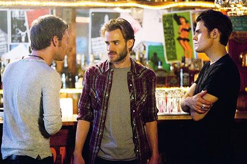 "The Vampire Diaries - Season 3 - ""The Birthday"" - Joseph Morgan as Klaus, David Gallagher as Ray and Paul Wesley as Stefan"