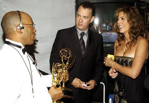 Tom Hanks & wife Rita Wilson - The 54th Annual Primetime Emmy Awards, September 22, 2002