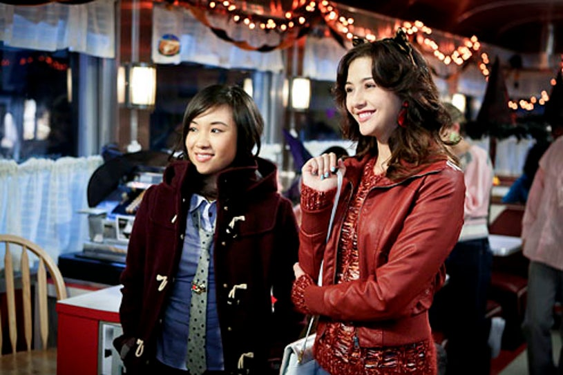 """The Carrie Diaries - Season 1 - """"Fright Night"""" - Ellen Wong and Katie Findlay"""
