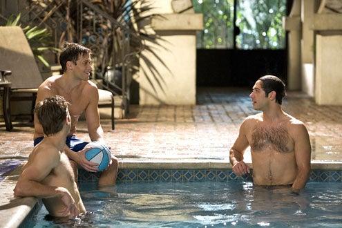 "Melrose Place - Season 1 - ""Mulholland"" - Nick Zano as Nick, Michael Rady as Jonah Miller and Shaun Sipos as David Breck"