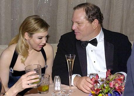 Renee Zellweger and Harvey Weinstein - Glamour Miramax Golden Globes Party