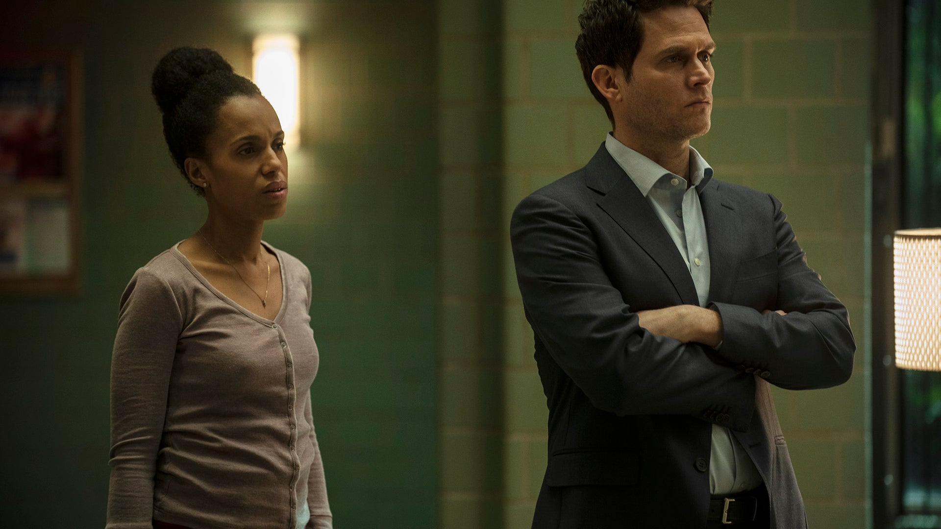Kerry Washington and Steven Pasquale, American Son