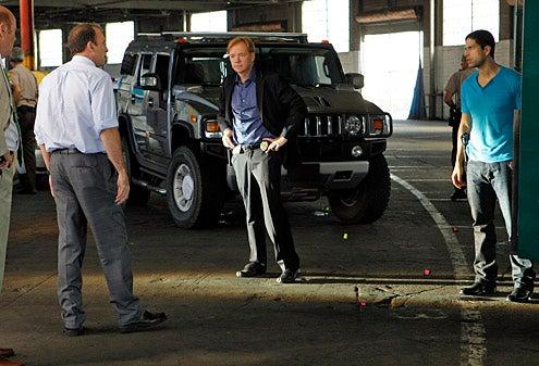 "CSI: Miami - Season 10 - ""Killer Regrets"" -  Rex Linn as Sgt. Frank Tripp, Scott Patterson as Brendon Dwyer, David Caruso as Horatio Caine and Adam Rodriguez as Eric Delko"