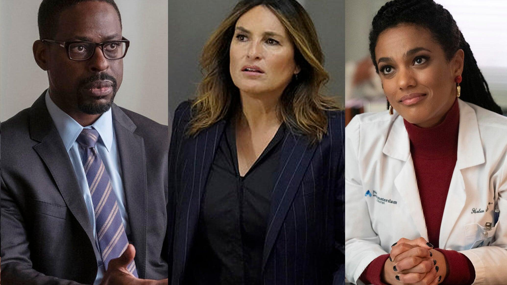 Sterling K. Brown (This Is Us), Mariska Hargitay (Law & Order: SVU), Freema Agyeman (New Amsterdam)