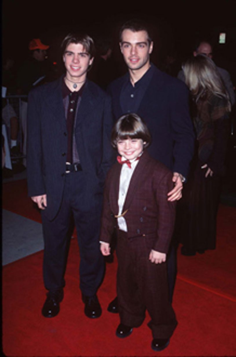 """Matthew, Joey and Andrew Lawrence - """"Michael"""" premiere, Dec. 1996"""