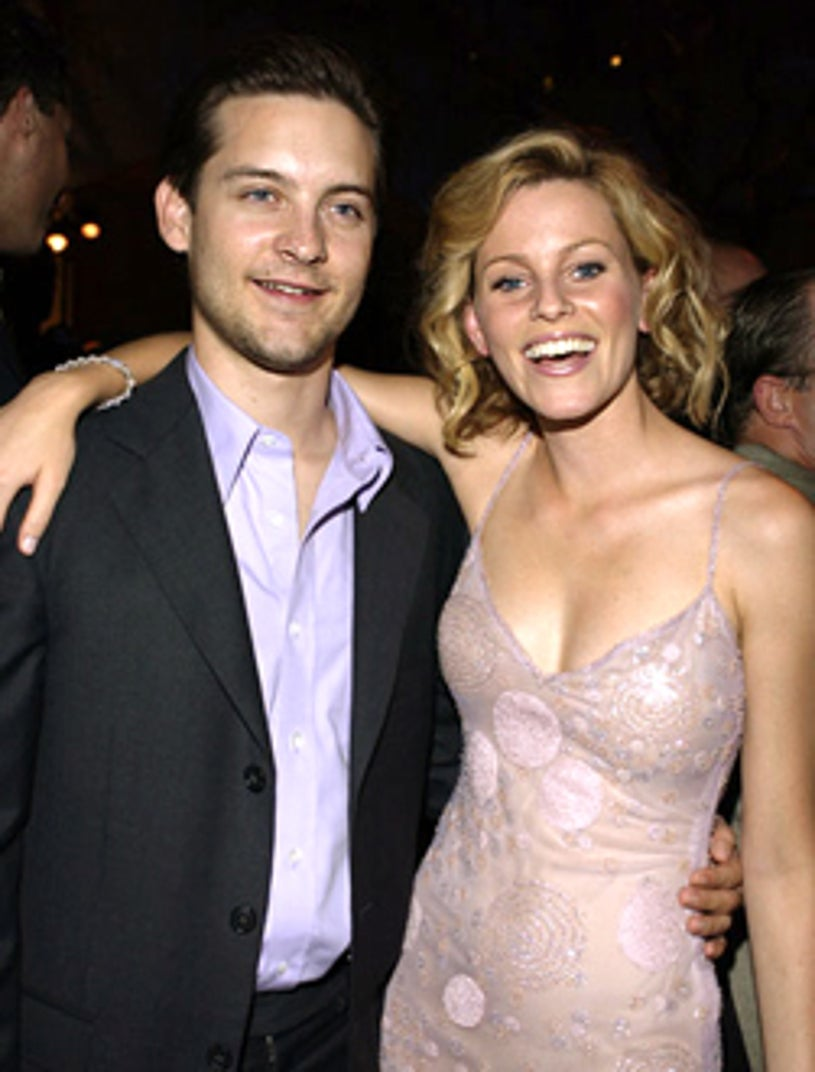 """Tobey Maguire and Elizabeth Banks - """" Seabiscuit"""" premiere, July 2003"""
