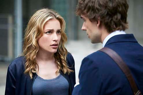 "Covert Affairs - Season 5 - ""Sensitive Euro Man"" - Piper Perabo and Christopher Gorham"