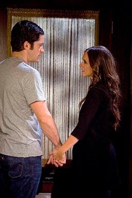 "Ghost Whisperer - Season 4 - ""Leap of Faith"" - David Conrad as Sam and Jennifer Love Hewitt as Melinda"