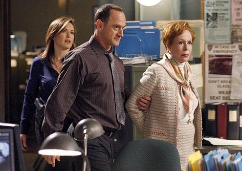 """Law & Order: SVU - Season 10 - """"Ballerina"""" - Mariska Hargitay as Det. Olivia Benson, Christopher Meloni as Det. Elliot Stabler and Carol Burnett as Bridget """"Birdie"""" Sulloway"""