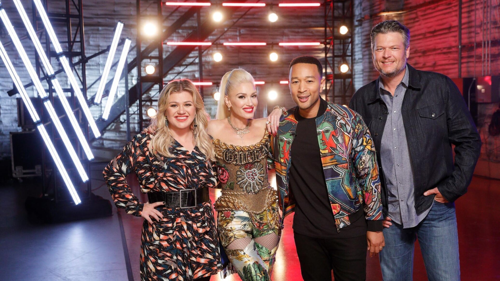 Kelly Clarkson, Gwen Stefani, John Legend, and Blake Shelton, The Voice