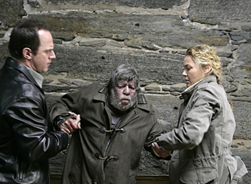 """Law & Order: SVU - Season 8 - """"Uncle"""" - Christopher Meloni as Det. Elliot Stabler, Jerry Lewis as Andrew Munch and Connie Nielsen as Det. Dani Beck"""