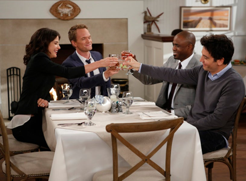 "How I Met Your Mother - Season 9 - ""Coming Back"" - Cobie Smulders, Neil Patrick Harris, Wayne Brady, Josh Radnor"