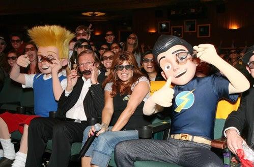 "Lewis, Adam West, Tera Bonilla and Wilbur - ""Meet the Robinsons"" Special Screening, March 29, 2007"