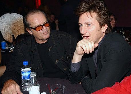 Jack Nicholson & Sean Penn - Mick Jagger Celebrates Release of New Solo Album Goddess in the Doorway, November 15, 2001