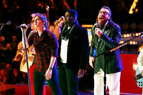 "The Voice - Season 3 - ""Live Results Show"" - Matchbox 20, Trevin Hunte and Nicholas David"