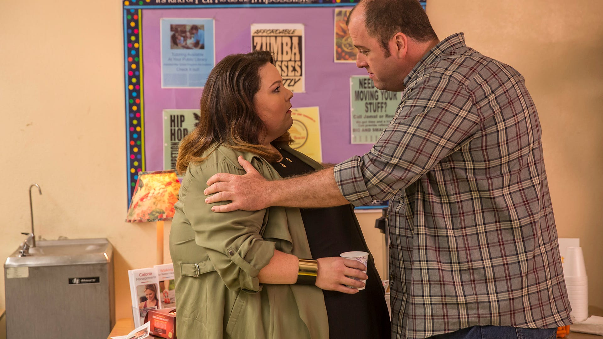 Chrissy Metz as Kate and Chris Sullivan as Toby, This Is Us