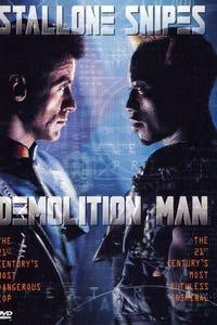 Demolition Man as TV Reporter