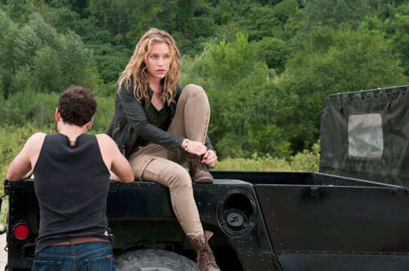 """Covert Affairs - Season 1 - """"When the Levee Breaks"""" - Eion Bailey as Ben Mercer and Piper Perabo as Annie Walker"""