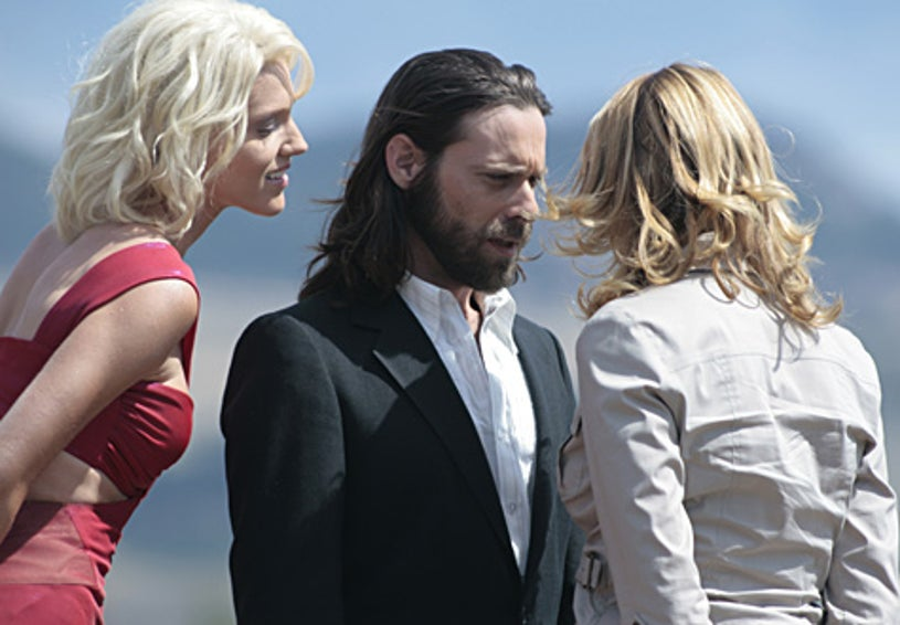 "Battlestar Galactica - Season 3 - ""Rapture"" - Tricia Helfer, James Callis and Lucy Lawless"