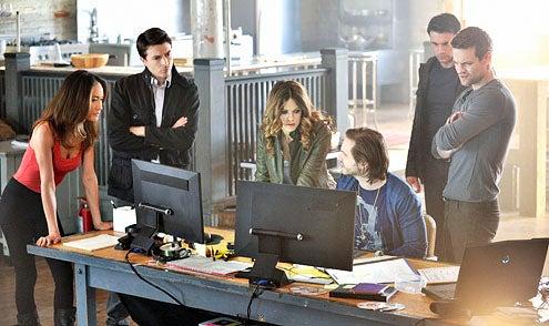 "Nikita - Season 2 - ""Crossbow"" - Maggie Q, Noah Bean, Lyndsy Fonseca, Aaron Stanford, Dillon Casey and Shane West"
