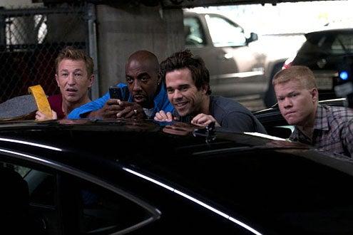 "Bent - Season 1 - ""HD"" - Pasha Lychnikoff as Vlad, J.B. Smoove as Clem, David Walton as Pete and Jesse Plemons as Gary"