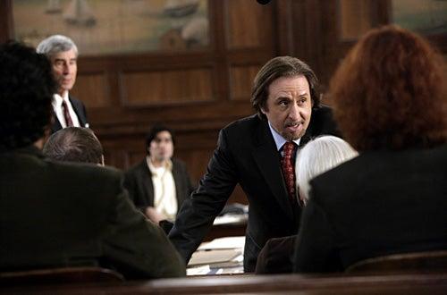 "Law & Order - ""Talking Points"" - Sam Waterston as Jack McCoy, Ron Silver as Bernie Adler"
