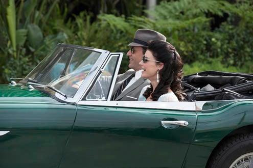 "Mad Men - Season 7 - ""Time Zones"" -  Jessica Pare as Megan Draper and Jon Hamm as Don Draper"