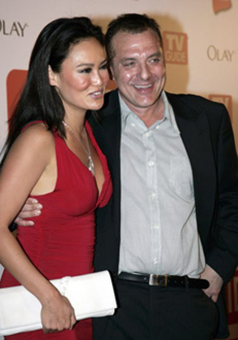 Tia Carrere and Tom Sizemore - Emmy Awards TV Guide after party, Aug. 2006