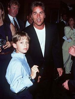 "Don Johnson & Son - ""Tin Cup"" Los Angeles Premiere - 1996"