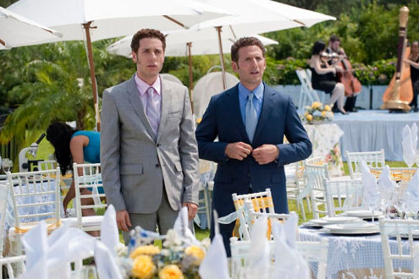 """Royal Pains - Season 2 - """"Whole Lotto Love"""" - Paulo Costanzo as Evan Lawson and Mark Feuerstein as Hank Lawson"""