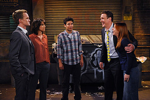 "How I Met Your Mother - Season 7 - ""The Ducky Tie"" - Jason Segel, Alyson Hannigan, Neil Patrick Harris, Cobie Smulders, Josh Radnor"